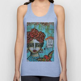 FRIDA PAINTING BAD ASS Unisex Tank Top