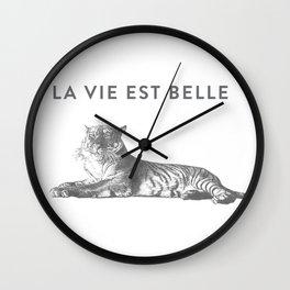 LA VIE EST BELLE - Life Is Beautiful Wall Clock