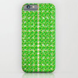 Gold horseshoes and four leaf clovers that are lucky for some iPhone Case