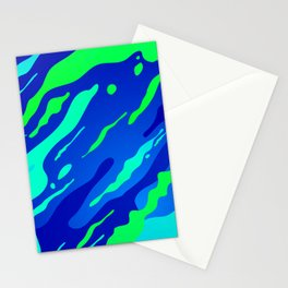Green and blues Abstract camouflage for modern home decoration Stationery Cards