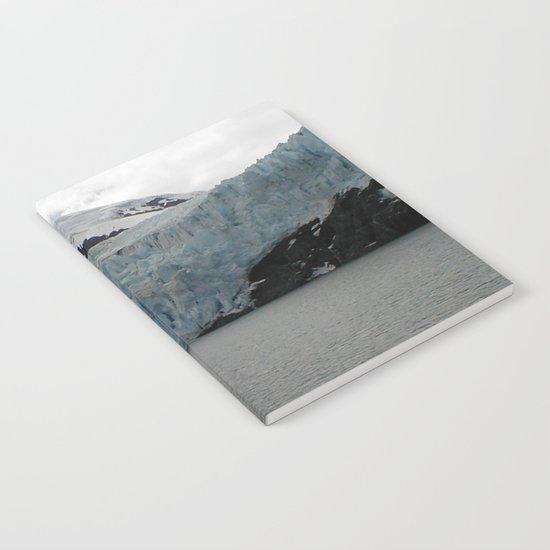 TEXTURES -- A Face of Portage Glacier Notebook