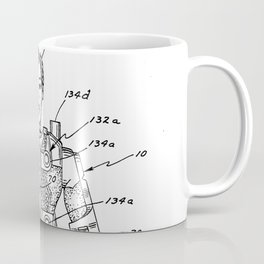 vintage action figure patent schematic Coffee Mug