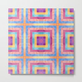 Abstract Colorful Squares Metal Print