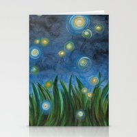 fireflies Stationery Cards featuring Fireflies by Kristen Fagan
