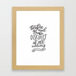 Matthew 28:19 Framed Art Print