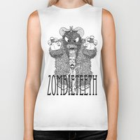 bigfoot Biker Tanks featuring Bigfoot by Iamzombieteeth Clothing