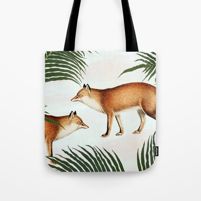 Red Fox Pair #society6 #buyart #decor Tote Bag