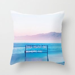 This Must Be My Dream Pastel Paradise Beach Vibe Throw Pillow