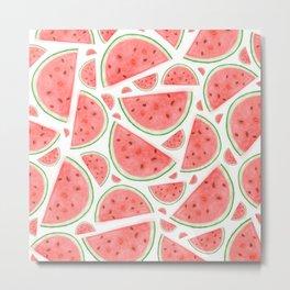 Watercolour Watermelon Metal Print