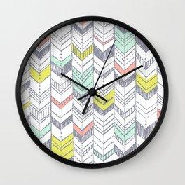 Sunset Chevrons  Wall Clock