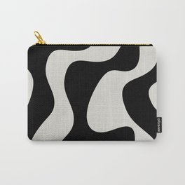 Black and white streams Carry-All Pouch