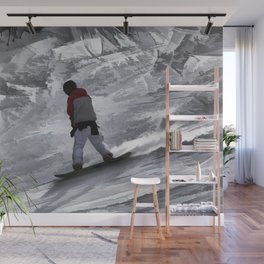 "Snowboarder ""just cruisin'"" Winter Sports Gift Wall Mural"
