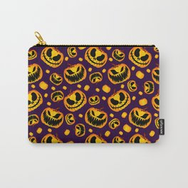 Spooky Halloween Pumpkins Carry-All Pouch