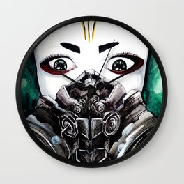 Cyberpunk Kyoshi Warrior Wall Clock