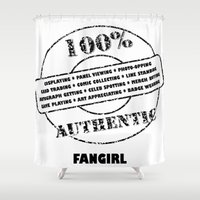 fangirl Shower Curtains featuring Authentic Fangirl by Off The Path Creative