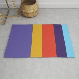 Colourful stripes Rug