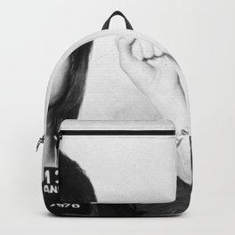 Jane Fonda Mug Shot Horizontal Backpack