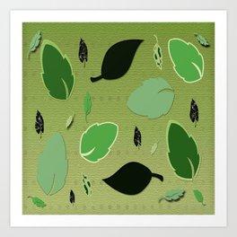 Olivine Leaves Art Print