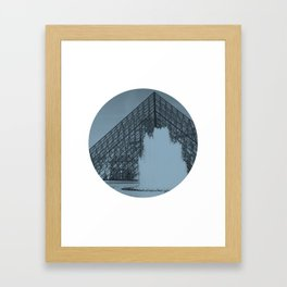 Louvre Fountain Framed Art Print