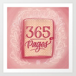365 Pages Art Print