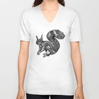 squirrel V-neck T-shirts featuring Squirrel by Ejaculesc