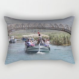 Boat Tour Along the Azmak Akyaka Turkey Rectangular Pillow