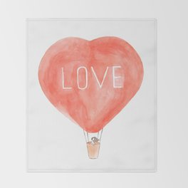 LOVE in the air Throw Blanket