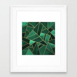 Emerald and Copper Framed Art Print