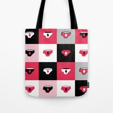 Superhero Under Pants Collage Tote Bag