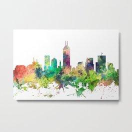 Indiana, Indianapolis Skyline SP Metal Print