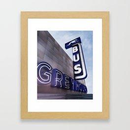 GREYHOUND BUS STATION COLOR Framed Art Print
