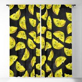 Lemon Slices Pattern Chalkboard Blackout Curtain