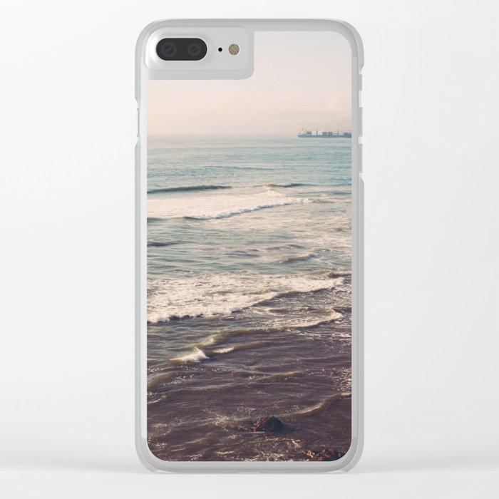 Vintage Ocean #landscape Clear iPhone Case