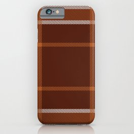 Plaid White And Brown Lumberjack Flannel iPhone Case