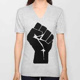 BLM Fist Unisex V-Neck