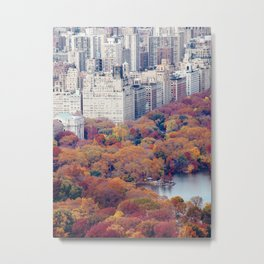 Autumn in New York - Travel Photography Metal Print