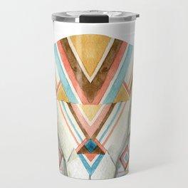Watercolor skull tribal design Travel Mug