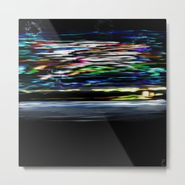 The Night At High Speed Metal Print
