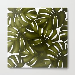 monstera leaves 3 Metal Print