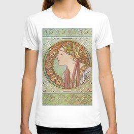 Alphonse Mucha - Laurel T-shirt