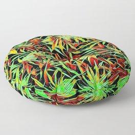 Cartoon Cannabis Jungle Floor Pillow