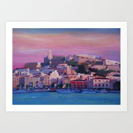 Ibiza Eivissa Old Town and Harbour Pearl of the Mediterranean Art Print