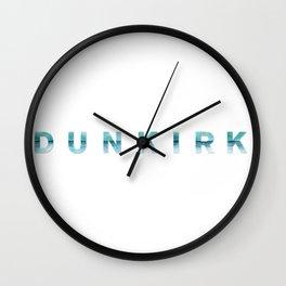 DUNKIRK Movie Title Horizontal Wall Clock