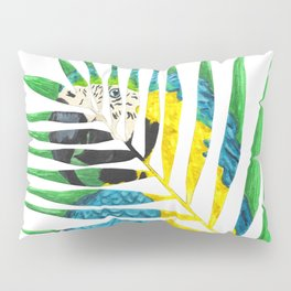 Parrot Palm Leaf Pillow Sham