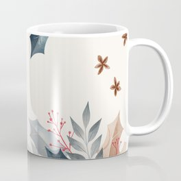 Holly and Star Anise Watercolor Coffee Mug
