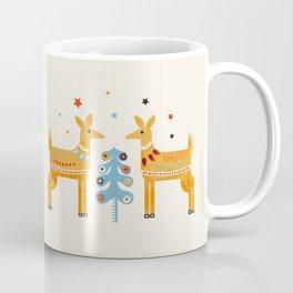 Festive deers -  retro illustration Coffee Mug