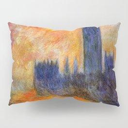 House of Parliament, London, Sun Breaking Through the Fog by Claude Monet Pillow Sham