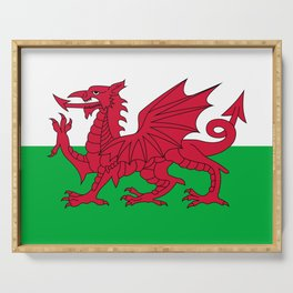 Welsh Flag of Wales Serving Tray