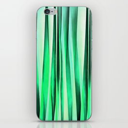 Turquoise Serenity Stripy Pattern iPhone Skin