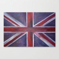 british flag Canvas Prints featuring British by Magdalena Hristova